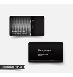 Business card template set 53 dark metal and steel vector