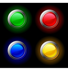 Colour buttons vector image