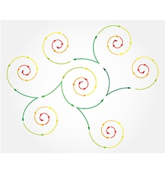 connected spiral arrows vector image vector image