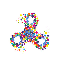 Creative abstract hand spinner fidget spinner vector