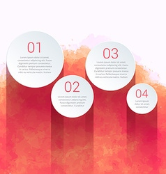 Creative infographic made with watercolor vector