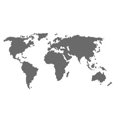 Dotted world map isolated vector
