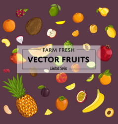 Farm fresh fruit poster vector