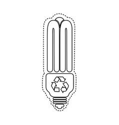 Figure bulb energy saver icon vector