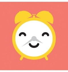Happy alarm clock vector image vector image