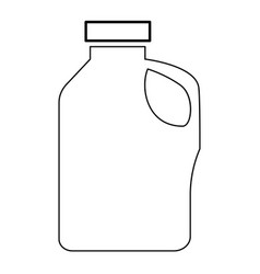 household chemicals the black color icon vector image vector image
