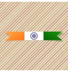 India national label and ribbon vector