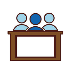 Jury silhouette isolated icon vector