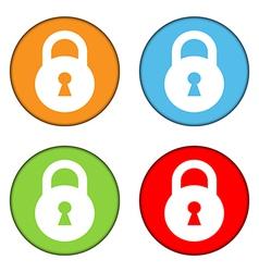 Lock button set vector