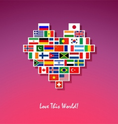 love this world vector image