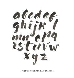 Modern ink alphabet font vector
