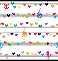 Music heart note sound love texture vector image vector image