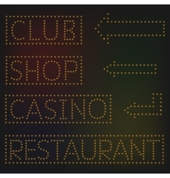 Night lights signs vector image