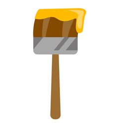 paintbrush with paint cartoon vector image