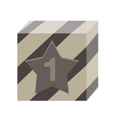 prize win winner background icon box trophy vector image