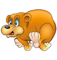 Running Bear vector image vector image