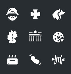 set of german icons vector image vector image