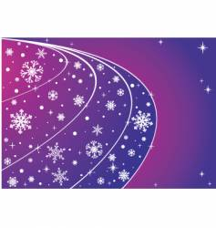 sky with snowflakes and stars vector image