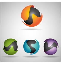 sphere colors vector image