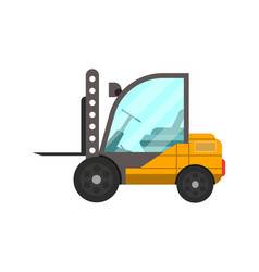 Storage forklift truck isolated icon vector