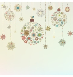 Stylized christmas balls on beige eps 8 vector