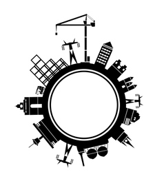 Stylized city block vector image