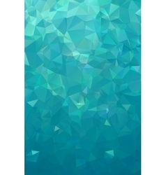 Turquoise polygonal background nothern lights vector