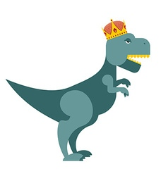 Tyrannosaurus Dinosaur King T-Rex most important vector image