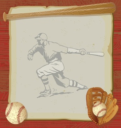 vintage baseball party vector image vector image