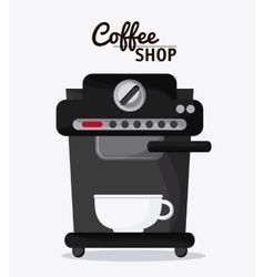 Coffee mug cup machine shop beverage icon vector