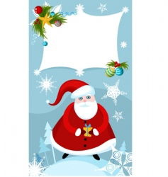 Santa sign vector