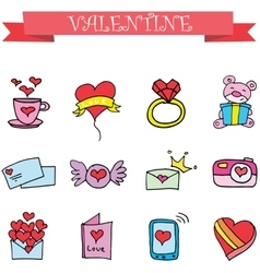Object valentine day collection stock vector
