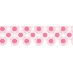 Pink textile circles horizontal seamless patter vector image