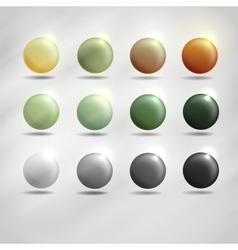 Colorful round buttons vector