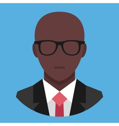 Black man in business suit icon vector
