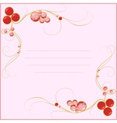 jewel blank for card vector image