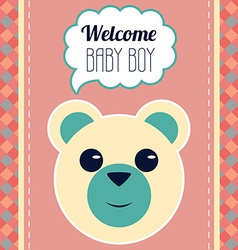 Welcome baby boy card vector