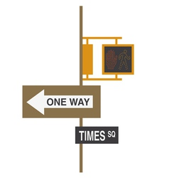Nyc road sign vector