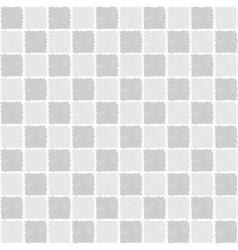 Seamless pattern of squares in sketch style vector