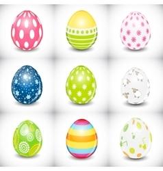 Beautiful Easter Egg Set vector image