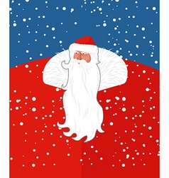 Russian sana claus new years grandfather from vector