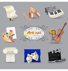 Art symbols set vector image vector image