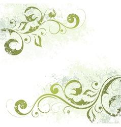 Artistic floral motif vector
