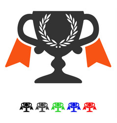 Award cup flat icon vector