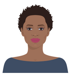 Beautiful african american woman vector