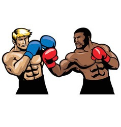 boxing fight vector image