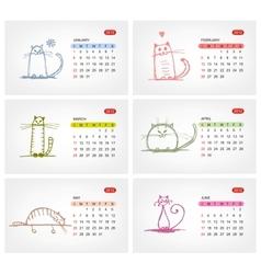 calendar 2012 july Funny cats design vector image vector image
