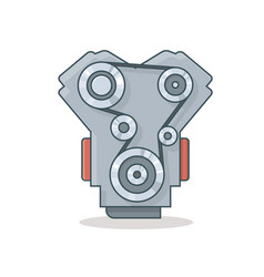Car engine icon vector