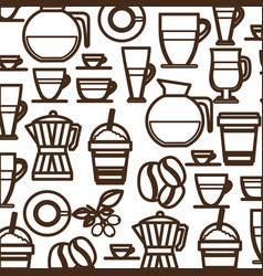 coffee tools and equipment icon vector image