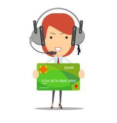 Dispatcher bank customer service vector